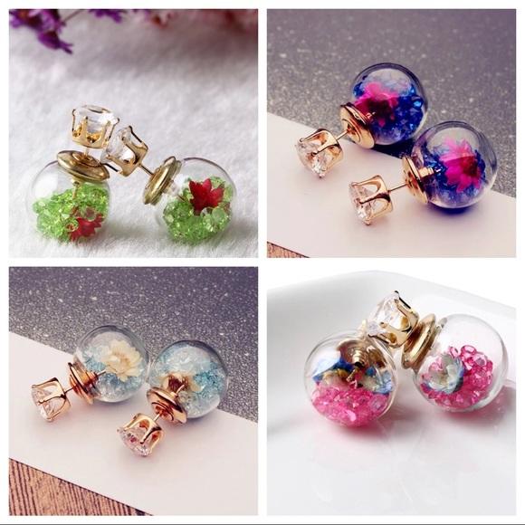 a8198b725 Ella Fleur Jewelry | Crystal Ball Flower Confetti Reversible ...